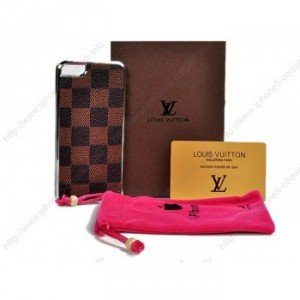Louis Vuitton Coque Pour iPhone 5 10 Brun