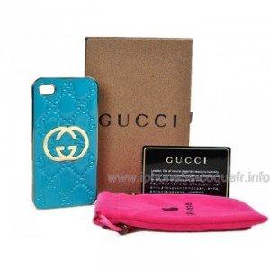 Gucci Coque Pour iPhone 4 4s Bleu
