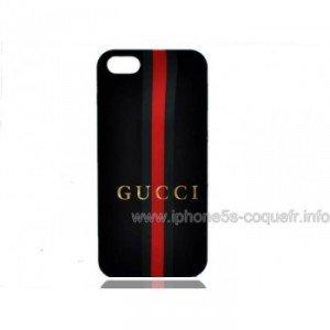 Gucci Coque Pour iPhone 5 Noir Rouge